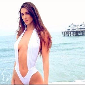 d2914184a9c9 WHITE MARGO ONE-PIECE CAN BE WORN AS TOP OR BIKINI